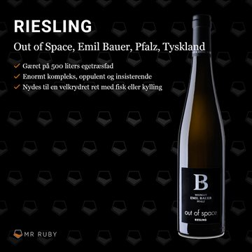 2019 Out of Space Riesling, Emil Bauer, Pfalz, Tyskland