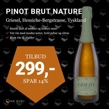 2015 Pinot Brut Nature, Griesel & Compagnie, Hessiche Bergstrasse, Tyskland