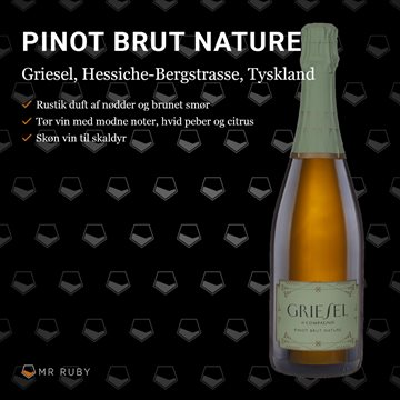 2015 Pinot Brut Nature MAGNUM, Griesel & Compagnie, Hessiche Bergstrasse, Tyskland