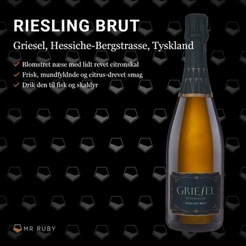 2016 Riesling Brut, Griesel & Compagnie, Hessiche Bergstrasse, Tyskland