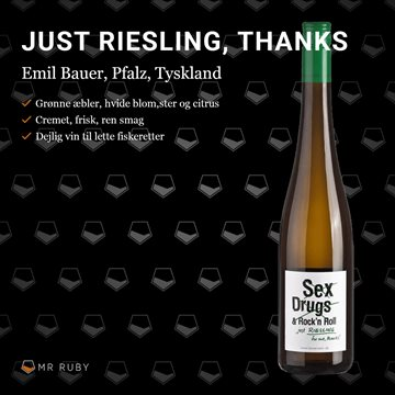 2019 Just Riesling for me thanks, Emil Bauer, Pfalz, Tyskland