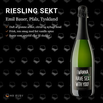 2017 I Wanna have Sekt with you, Riesling Sekt, Emil Bauer, Pfalz, Tyskland