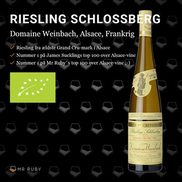 2017 Riesling Grand Cru Schlossberg Cuvée Catherine, Domaine Weinbach, Alsace, Frankrig