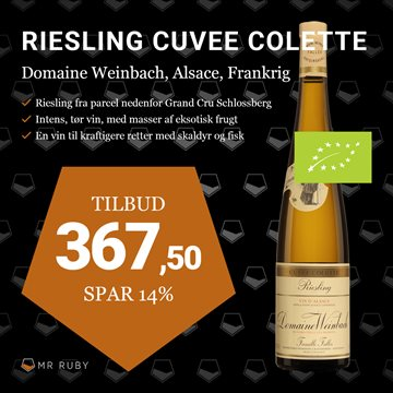2017 Riesling Cuvee Colette, Domaine Weinbach, Alsace, Frankrig