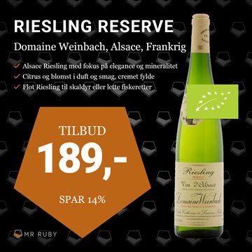 2016 Riesling Reserve, Domaine Weinbach, Alsace, Frankrig