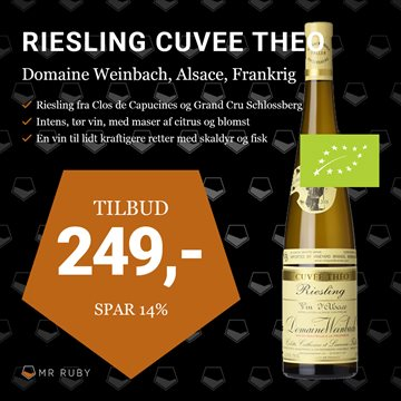 2017 Riesling Cuvée Theo, Domaine Weinbach, Alsace, Frankrig
